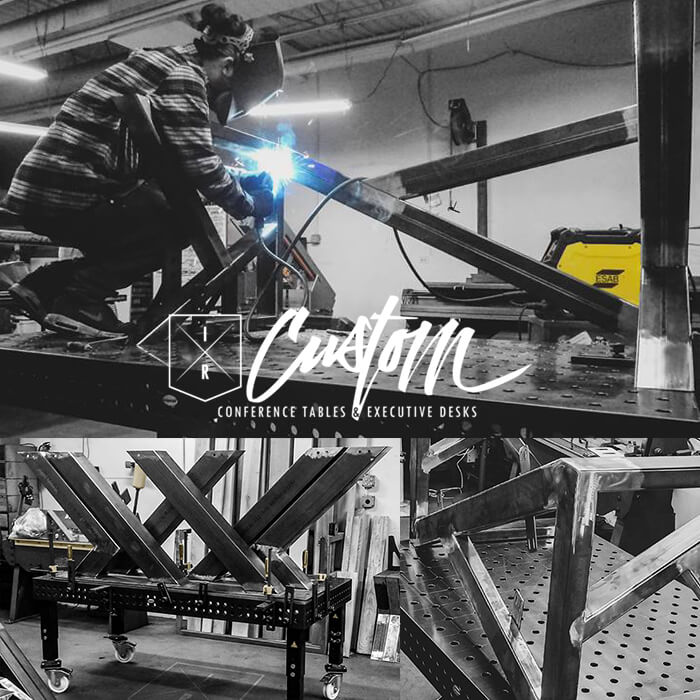 IRcustom - IRcustom has a great following on Social Media. Rob and Anthony Divito are continually displaying all of the ways that they utilize their Siegmund Welding Tables and Fixtures. These brothers share a love for Industrial Quality Construction & Beautiful Solid Hardwoods. IRcustom brings a modern, minimalist aesthetic to industrial style. Their products are wholly designed and fabricated in their shop, here in the U.S.A.