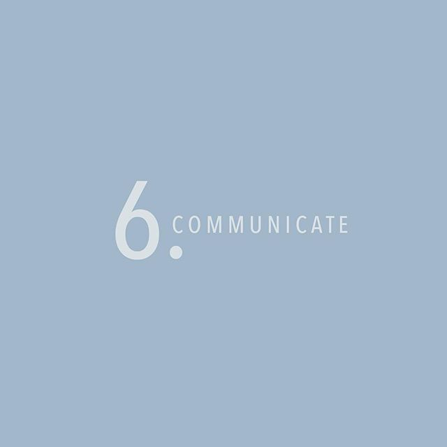 Tip Six: COMMUNICATE! Clear communication between both designer and client can lead to a more effective design, less revisions + and overall more enjoyable working relationship! So remember speak up and let your desires be heard! 🗣👂🏽