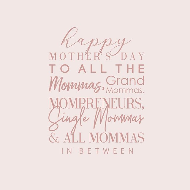 Happy Mother's Day to all the hard working, selfless, nurturing and dedicated Mommas here + those who are now in Heaven. We celebrate you + thank you! 👩🏽‍🦱👵🏽👩🏾‍🦱👩🏻👩🏾‍🦳👩🏼