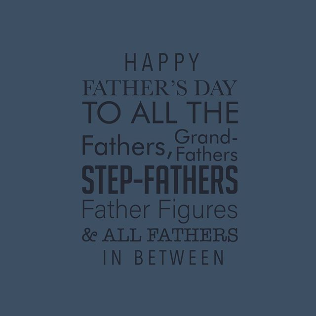 Happy Father's Day to all the hard working, protectors, providers and dedicated Fathers here + those who are now in Heaven. We celebrate you + thank you! 👨🏻👨🏽‍🦲🧔🏾👴🏽👱🏻‍♂️👨🏿‍🦱👨🏽‍🦱👨🏽‍🦳