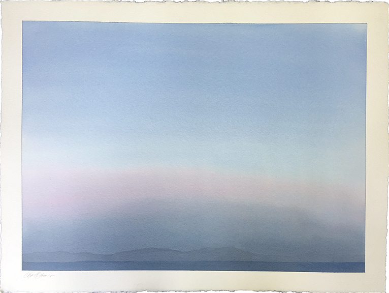 """Landscape 4 , 2015 Watercolor on paper, 22"""" x 30""""  Available"""