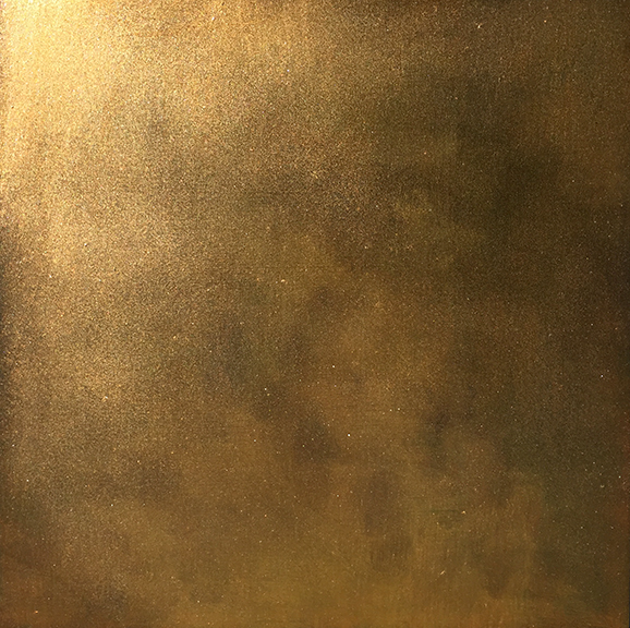 """Gold, 2015 Oil on panel, 12"""" x 12""""  S  OLD"""