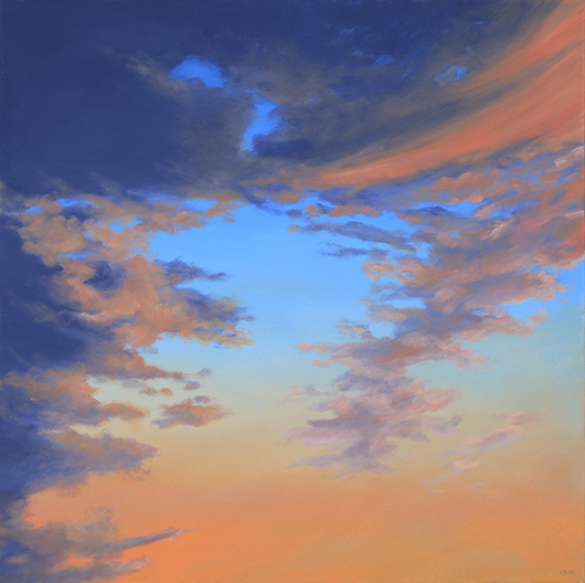 """Atmospheric Condition, No 1 , 2013 Oil on canvas,24"""" x 24""""  SOLD"""