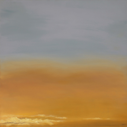 """Atmospheric Condition, No 2 , 2013 Oil on canvas,24 x 24""""  Available"""