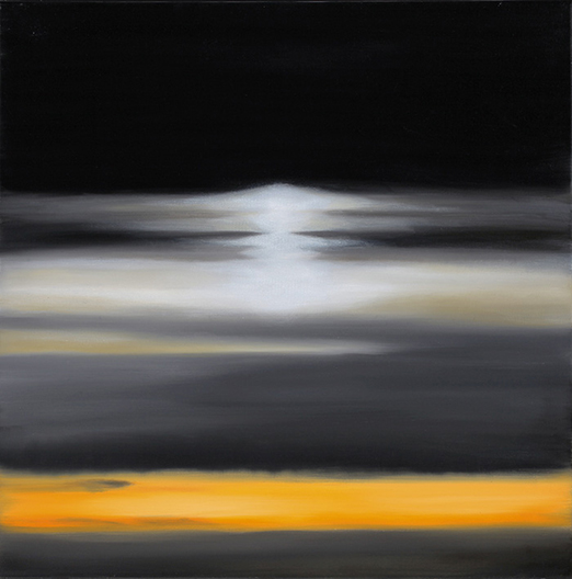 """Atmospheric Condition, No 3 , 2013 Oil on canvas,24"""" x 24""""  SOLD"""