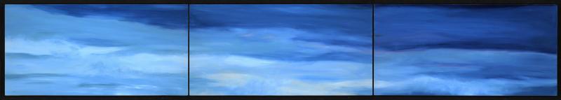 """The Deep Blue , 2013 Oil on canvas, 12"""" x 60""""  Available"""
