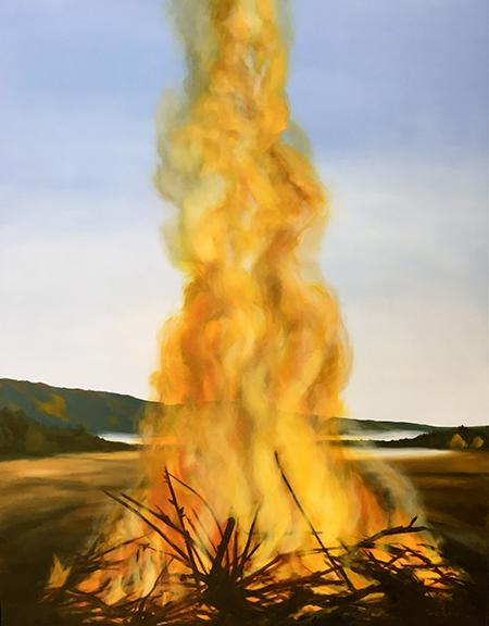 """Slashpile Burn , 2006  Oil on canvas, 60"""" x 48""""  Available"""