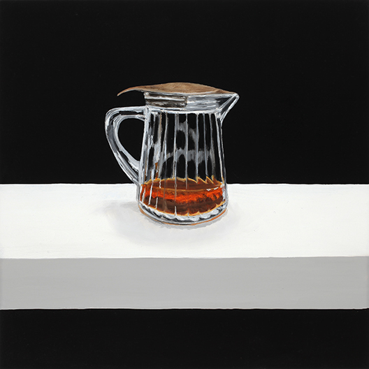 """Syrup , 2014 Oil on panel, 12"""" x 12""""  Available"""