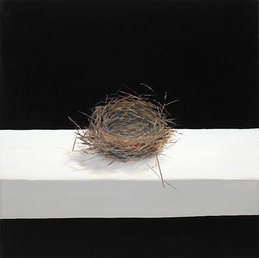 """Nest , 2014 Oil on panel, 12"""" x 12""""  Available"""