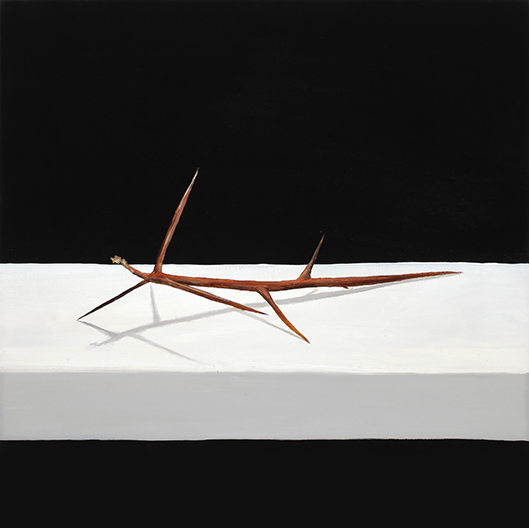 """Thorn , 2014 Oil on panel, 12"""" x 12""""  Available"""