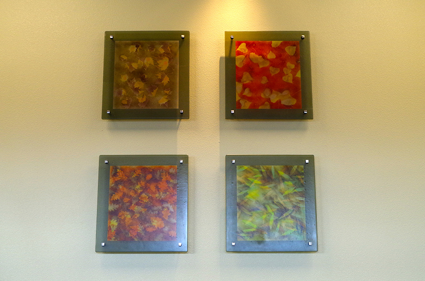 Les Bois (detail), 2015 Fused glass and metal In collaboration with Christopher Gibson and Michael Cordell Collection, Saint Alphonsus Regional Medical Center, Boise, Idaho