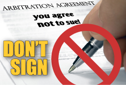 Don't sign FL Arbitration clauses upon admission to a nursing home facility. If you have already signed the agreement, speak with a Florida nursing home neglect lawyer to determine your options.