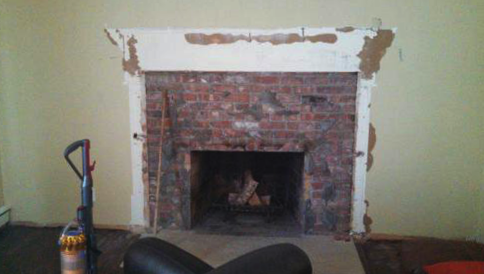Fireplace- Before