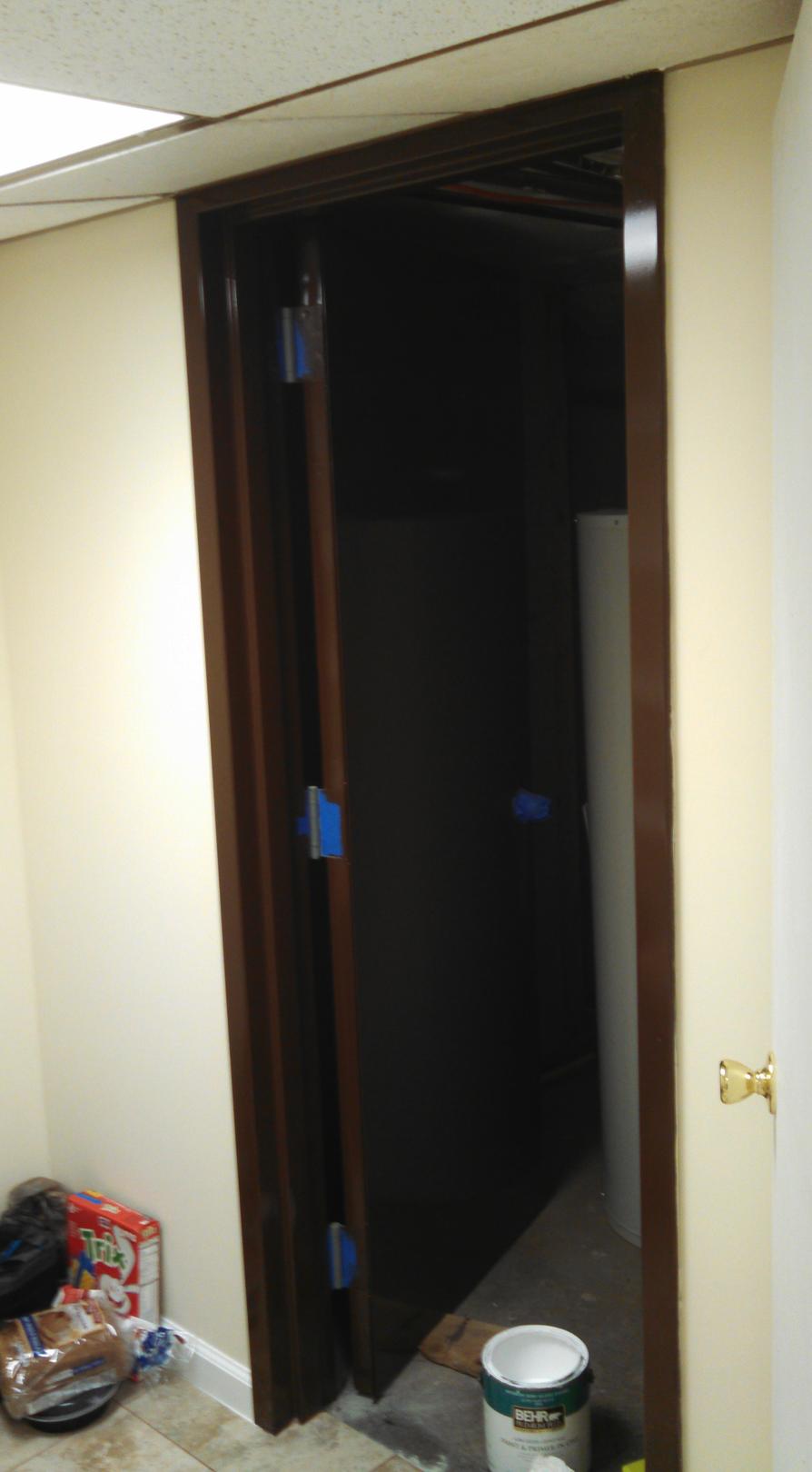Boiler Room Door- After