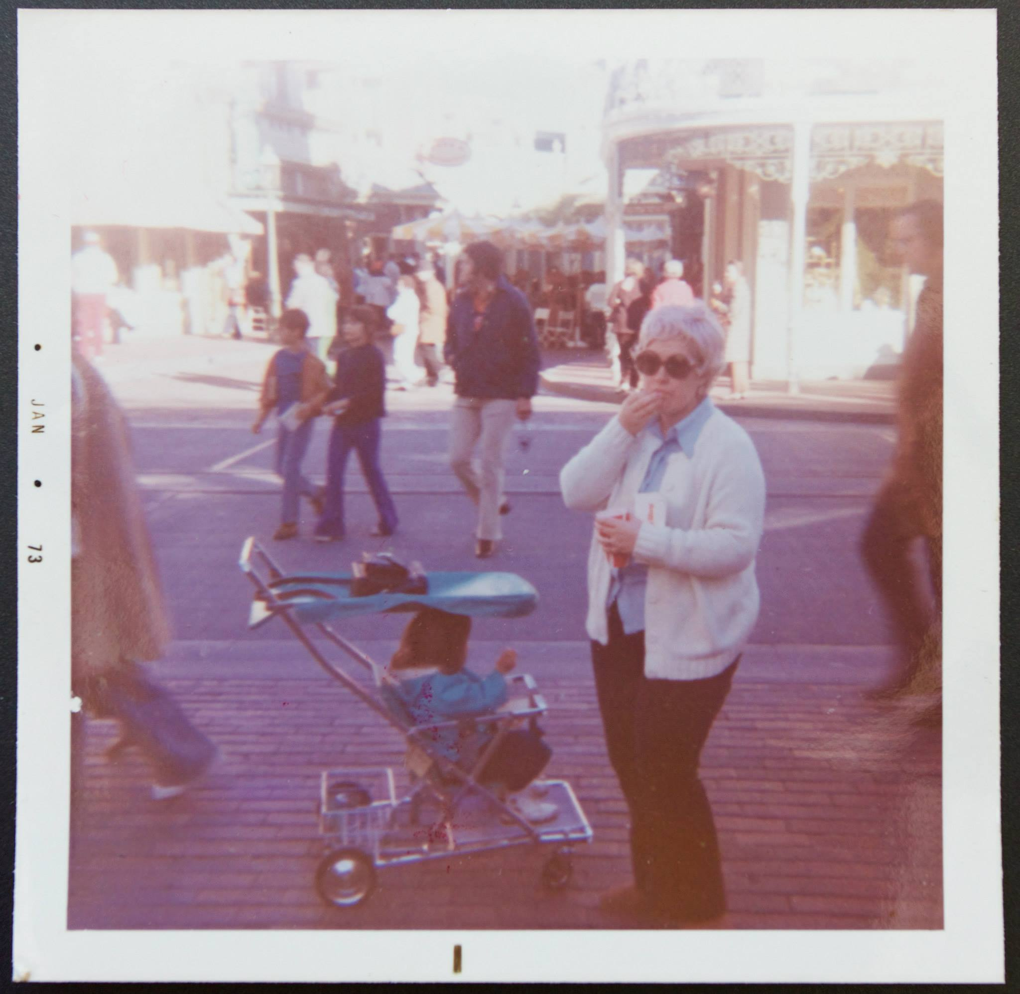 The original rental strollers in Walt Disney World. Not from 1971 but definitely the 70's on Main St. USA with my mom.
