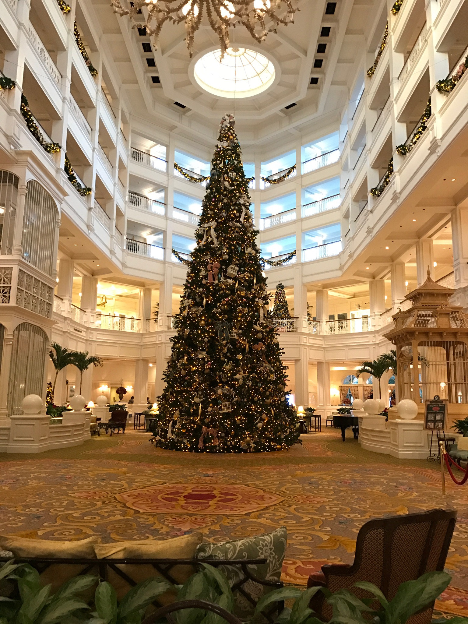 Disney's Grand Floridian has the most magnificent Christmas tree.
