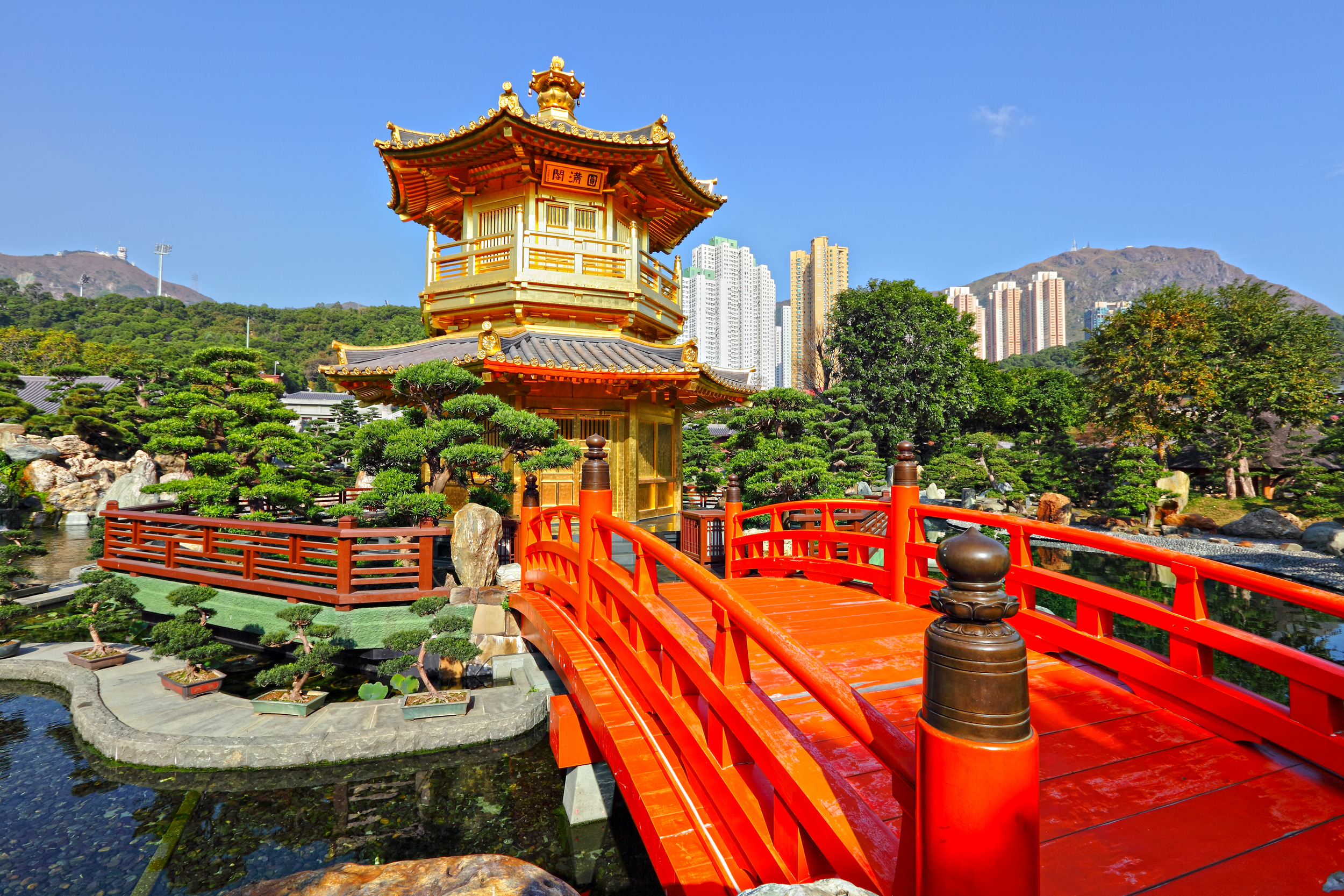 Gold Pavilion in Japanese Garden