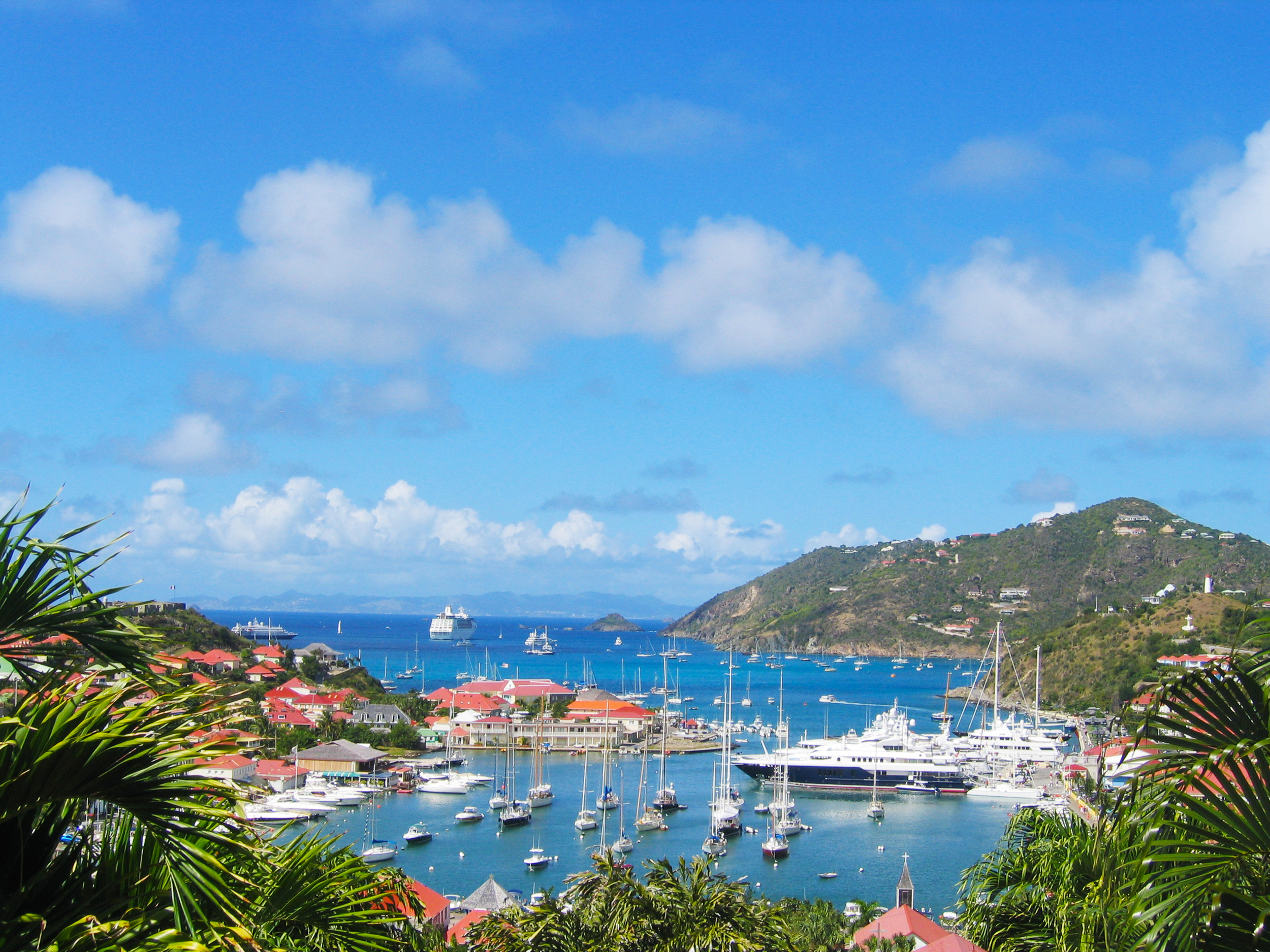 Ariel View at Gustavia Harbor