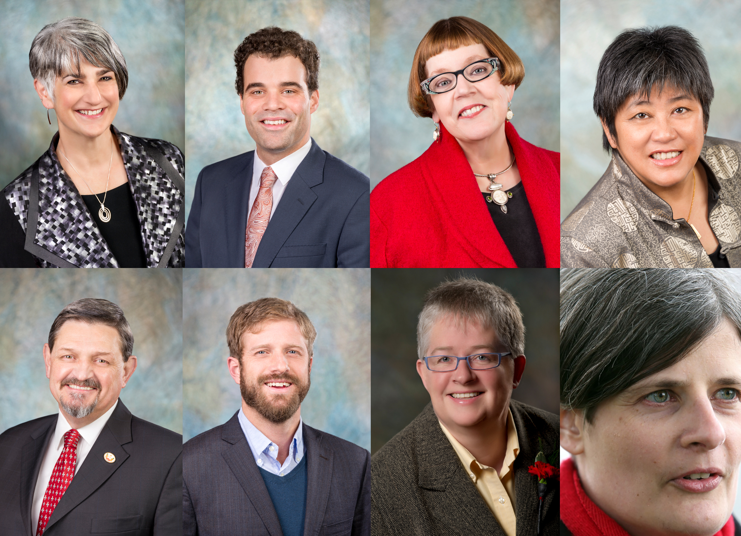 Victoria City Councillors who voted to erase history and remove a statue of Canada's founding father, clockwise from top left: Margaret Lucas, Jeremy Loveday, Pamela Madoff, Charlayne Tomton-Joe, Chris Coleman, Ben Isitt, Marianne Alto, and of course, Mayor Lisa Helps. Photo Credit: City of Victoria