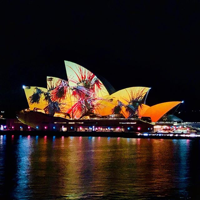 And we're live at #vividsydney incredibly honored and privileged to have been part of this colossal effort by the @bemo_studio team under the guidance of @andrewthomashuang and the incredible support of the @collider__ team. A bucket list project now complete. #projectionmapping #c4d #octanerender