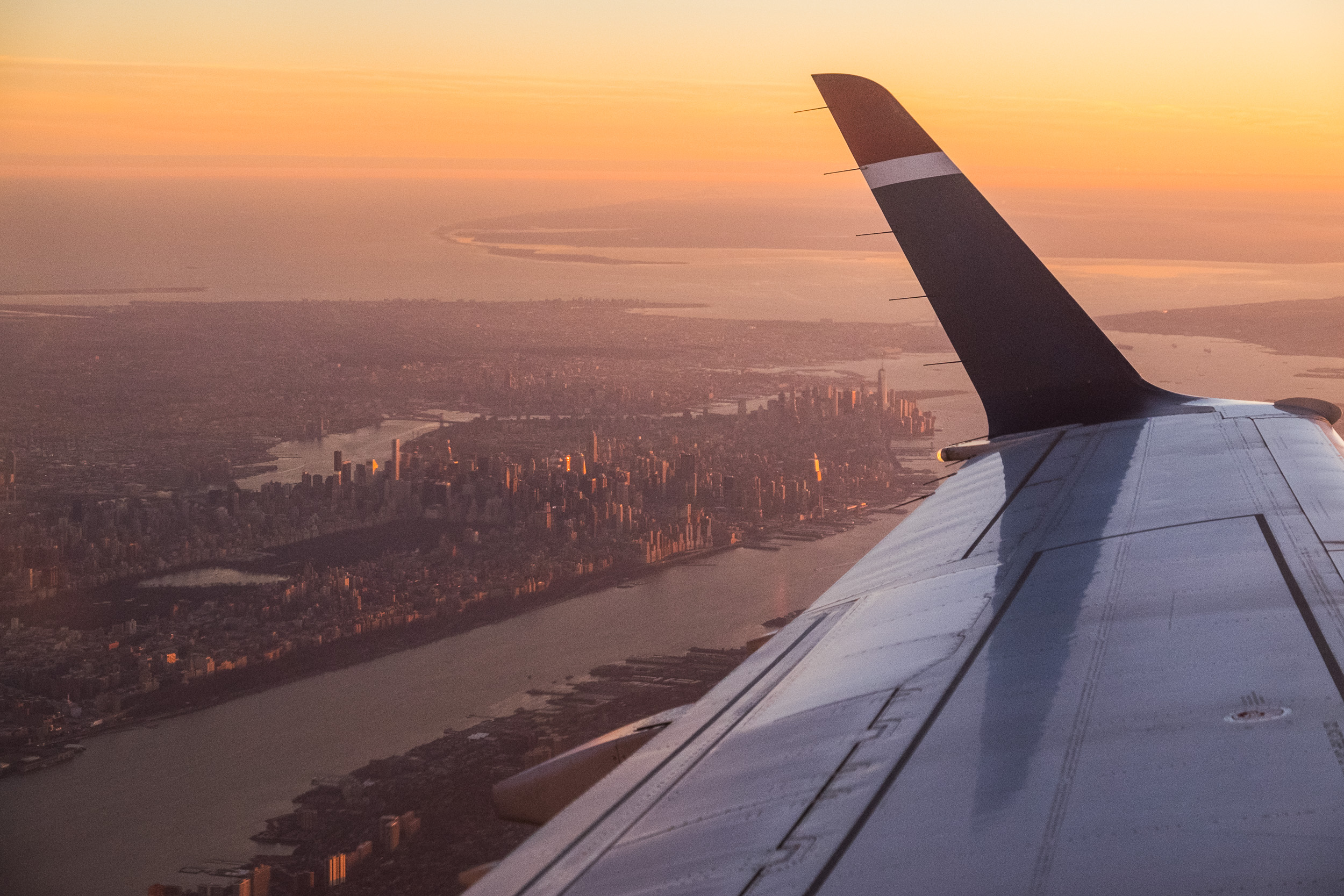 Flying home from NYC
