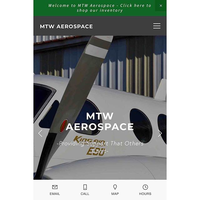 Our website is Mobile Friendly!  One click to Search our inventory online or Call and E-Mail our knowledgeable staff!  #mtwaerospace #mtwaerospaceinc #MTW #aerospace #aircraft #MGM #aircraftparts #aerospacecomponents
