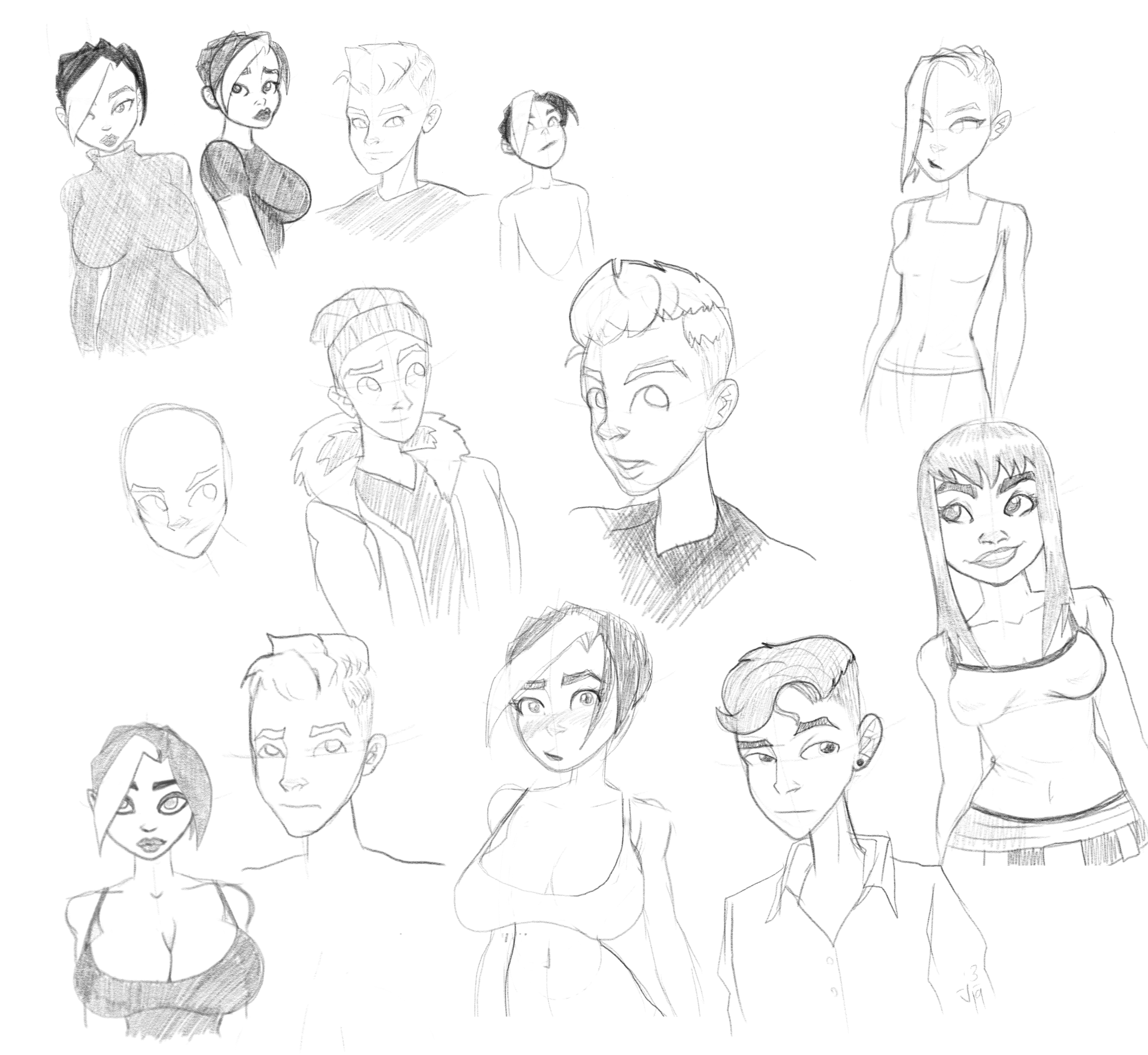 Here, you can kinda see me feeling out my style after a long time away and figuring out how I wanted characters to look.
