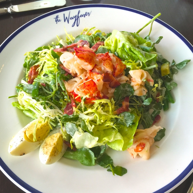 salad with lobster