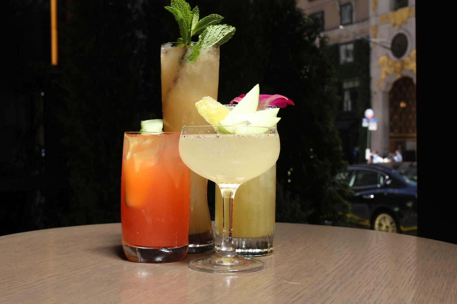 group of cocktails