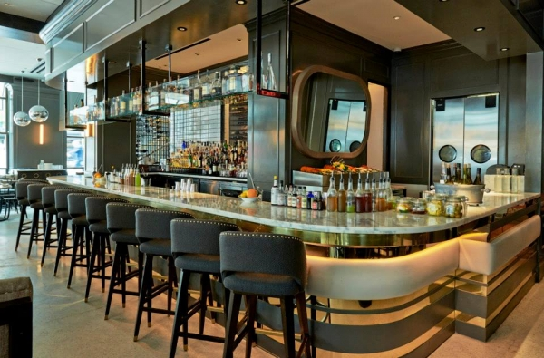 main dining room and bar