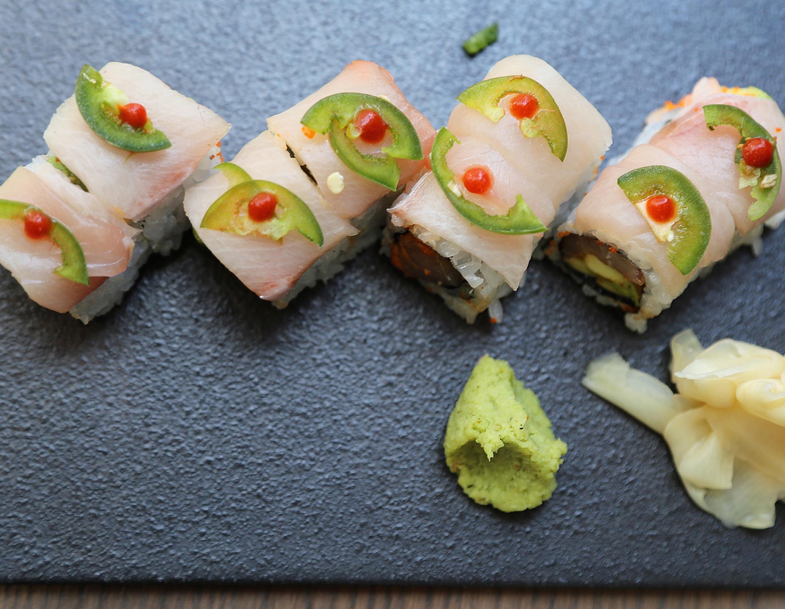 Yellowtail Sushi Roll