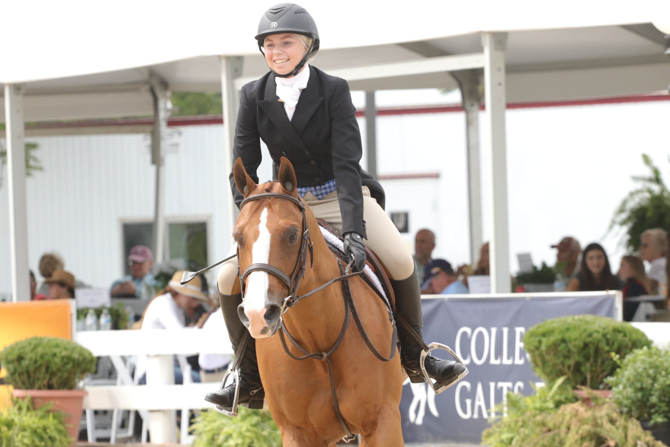 Emma and Pardon My Zipper (Zippy) competed in their third and final pony final this year in Lexington, KY.