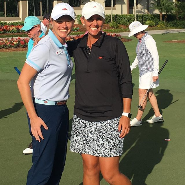 My partner in crime today Sara Dickson!! We are so lucky to have another amazing female golf professional join the team at Royal Poinciana Golf Club. We had a great day helping our members #makeeverything! @sarapga #aimpoint #girlsgolf #sarahdantgolf