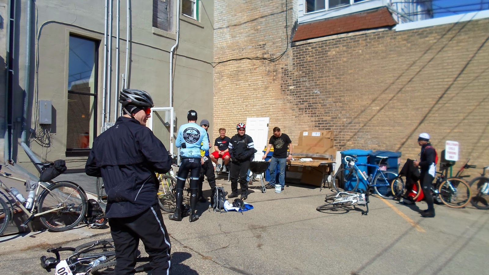 Bacon in the alley at Milltown Cycle.  Bring it.
