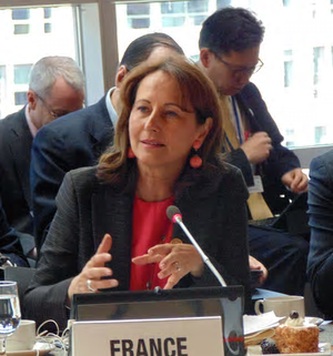 Ségolène Royal, Minister of Environment for France, co-chairs the Assembly. Photograph: World Bank Group