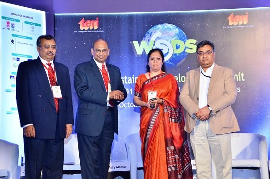 Mahindra announces internal carbon pricing at the The World Sustainable Development Summit.  Photo by Anirban Ghosh