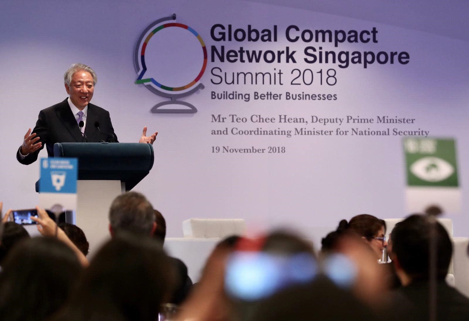 Mr Teo Chee Hean , Singapore Deputy Prime Minister and Coordinating Minister for National Security supported the launch of CPLC Singapore and called on more businesses to join.  This photo was provided via the Deputy Prime Minister and Coordinating Minister for National Security's website.