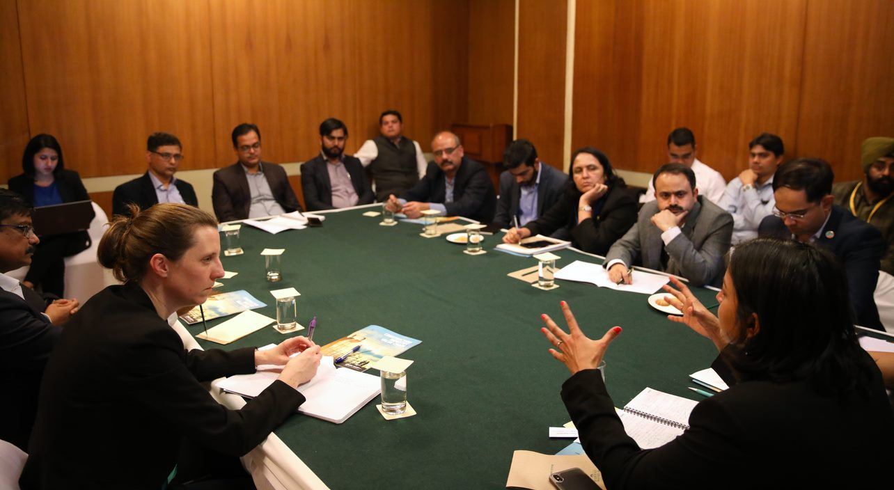 Aditi Maheshwari of the International Finance Corporation facilitating the discussion.