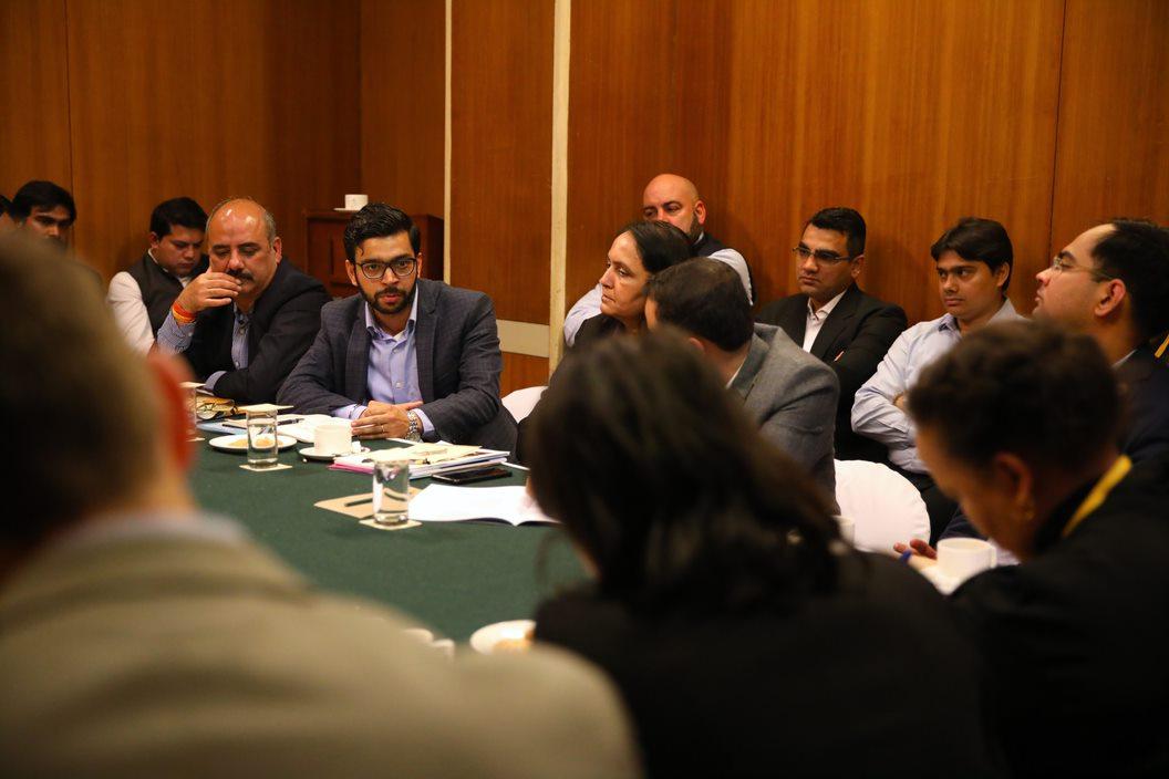 Hitesh Kataria of Mahindra Group provides his input to the group.