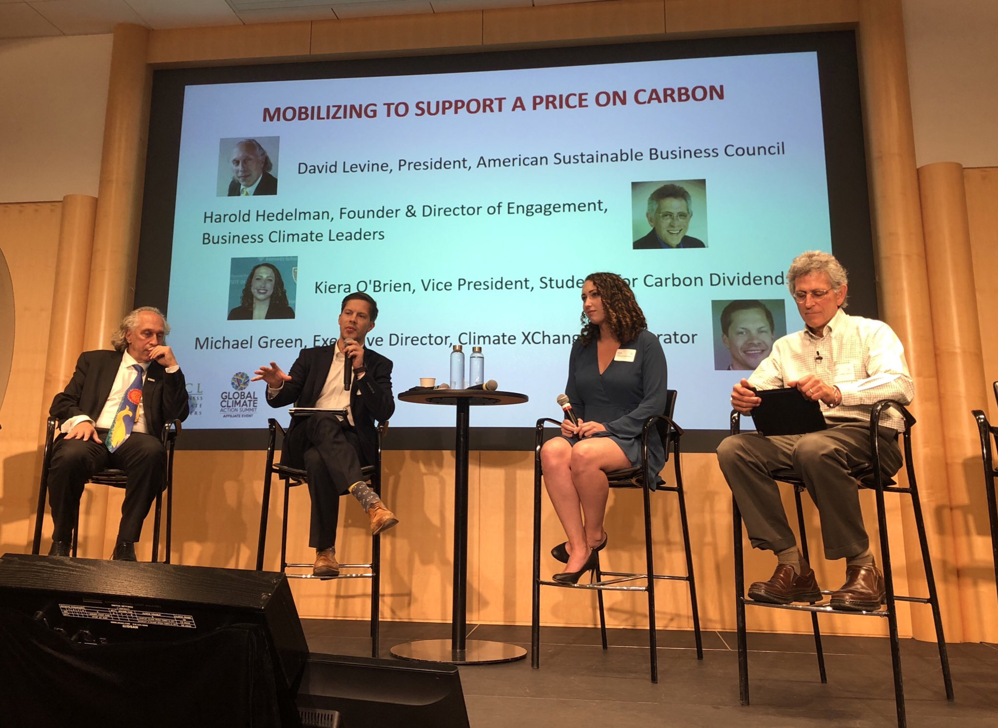 Climate XChange Executive Director Michael Green speaking on a panel at a carbon pricing conference in Washington, D.C.
