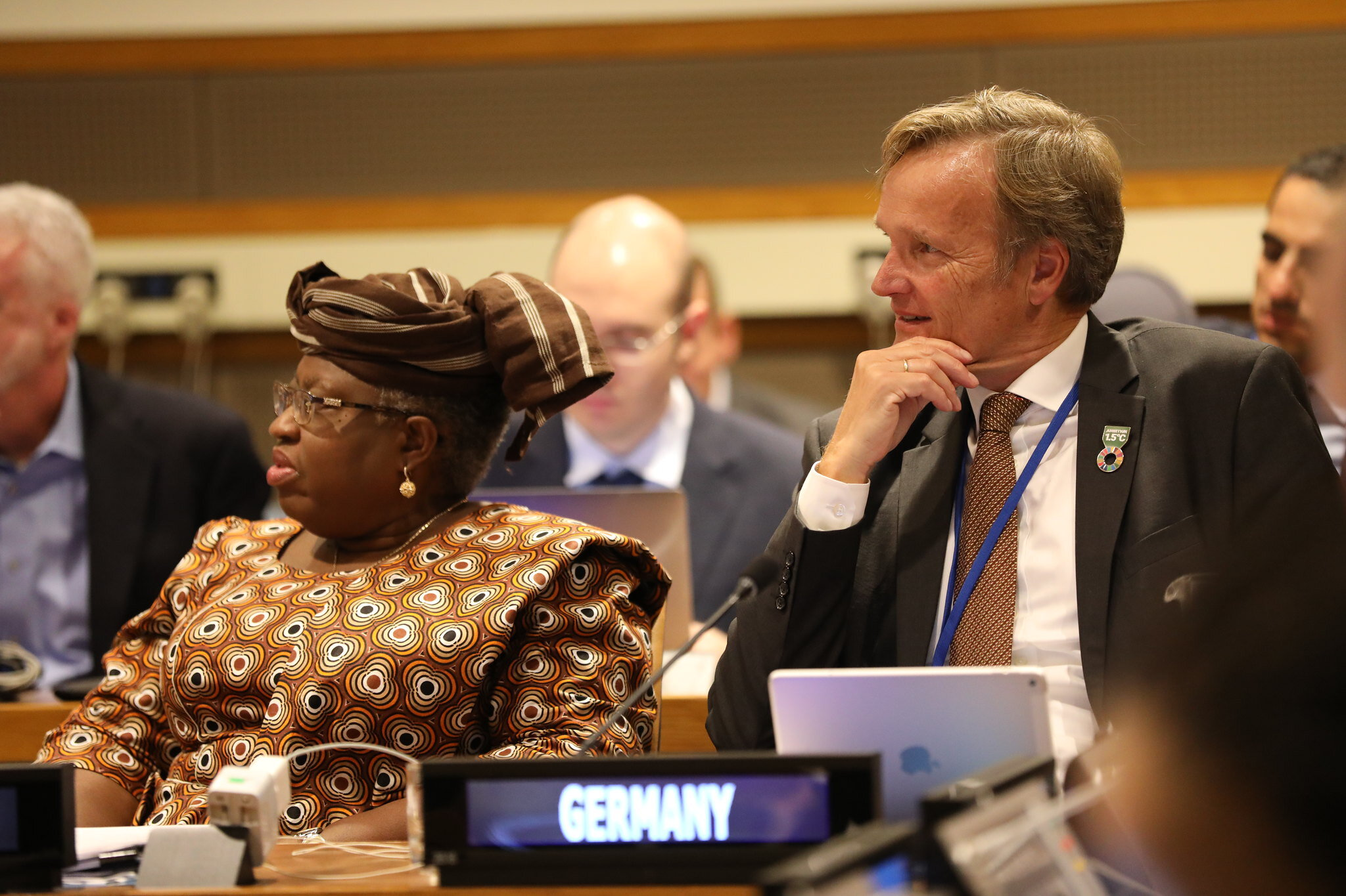 Dr. Ngozi Okonjo-Iweala and Mr Karsten Sach