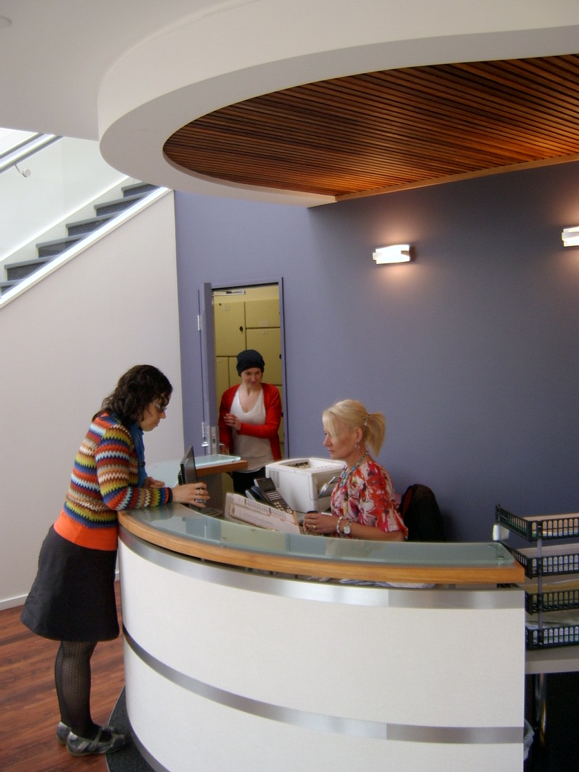 College of Midwives reception desk