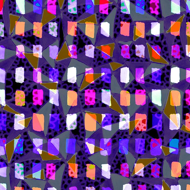 "Checkered Geometry . 2013. New media. 10"" x 10""."