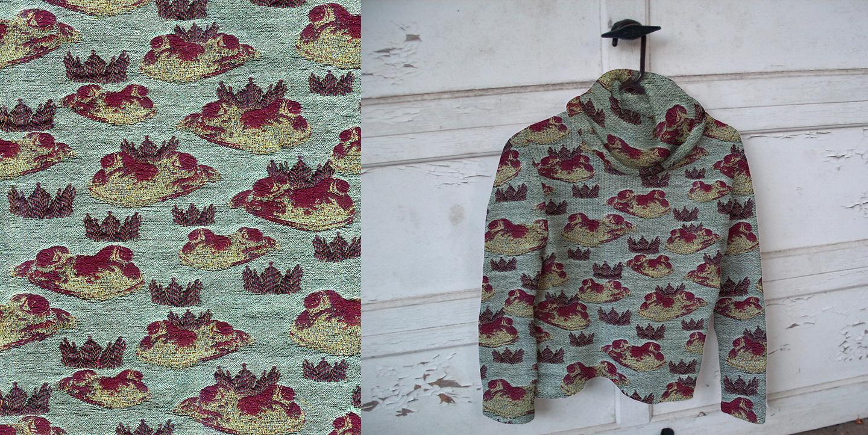 Prince Charming No. 1 . 2012. Double cloth jacquard weave.