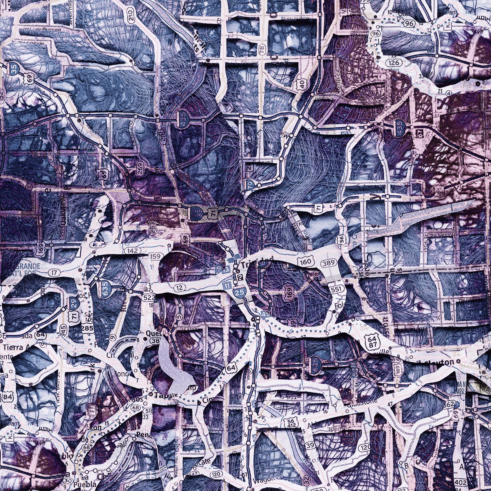 "Mapped   Mind . 2012. New media. 27"" x 27""."
