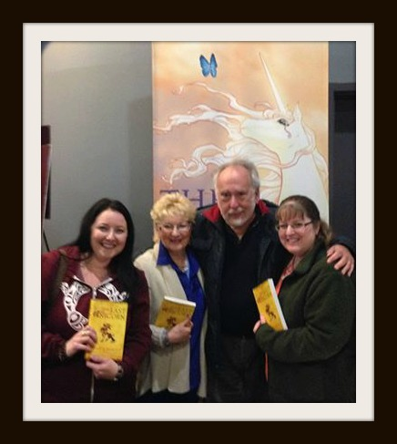 My sister, mother, Peter S Beagle, and I.