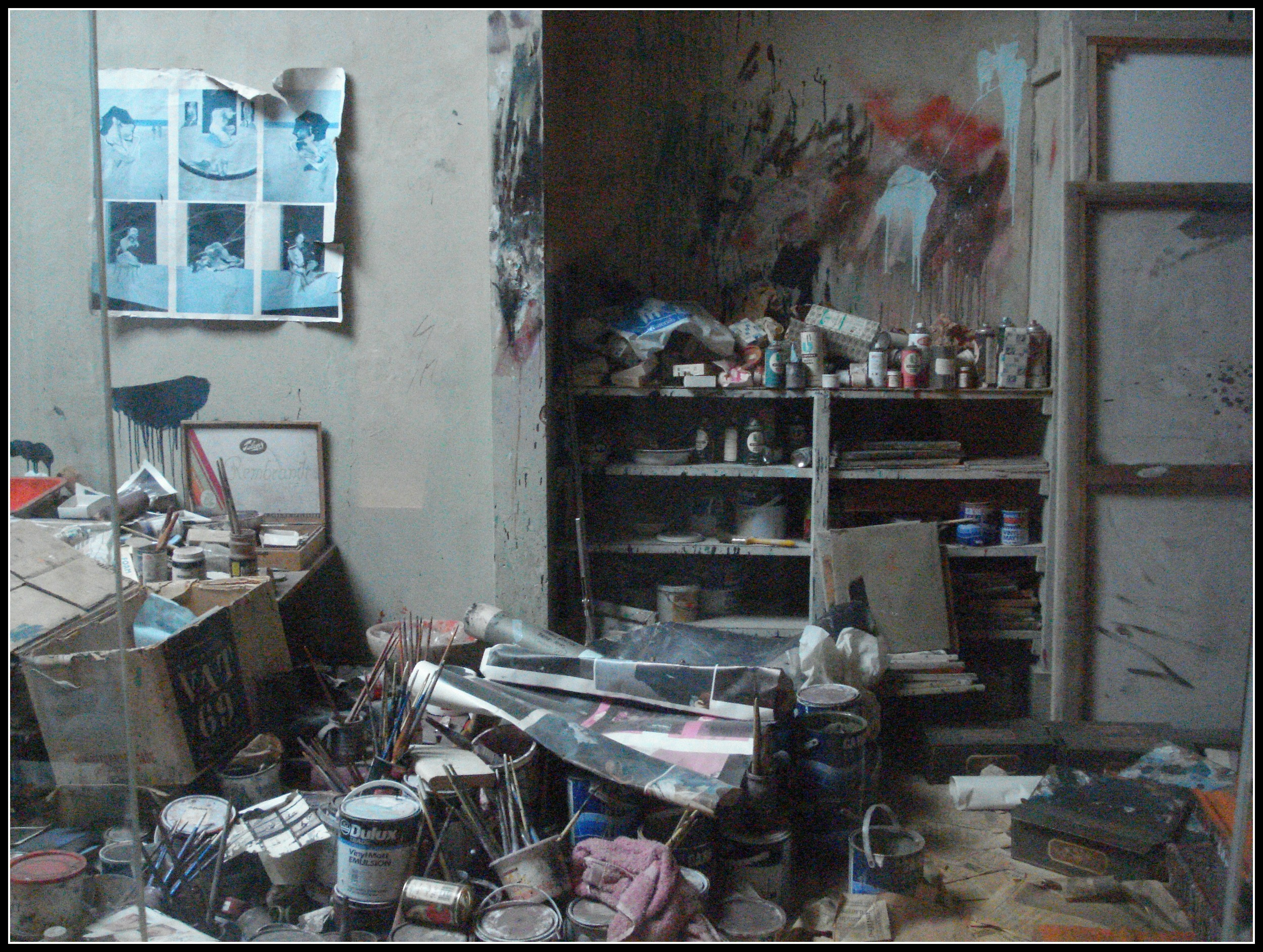 Frances Bacon's studio has been meticulously recreated.