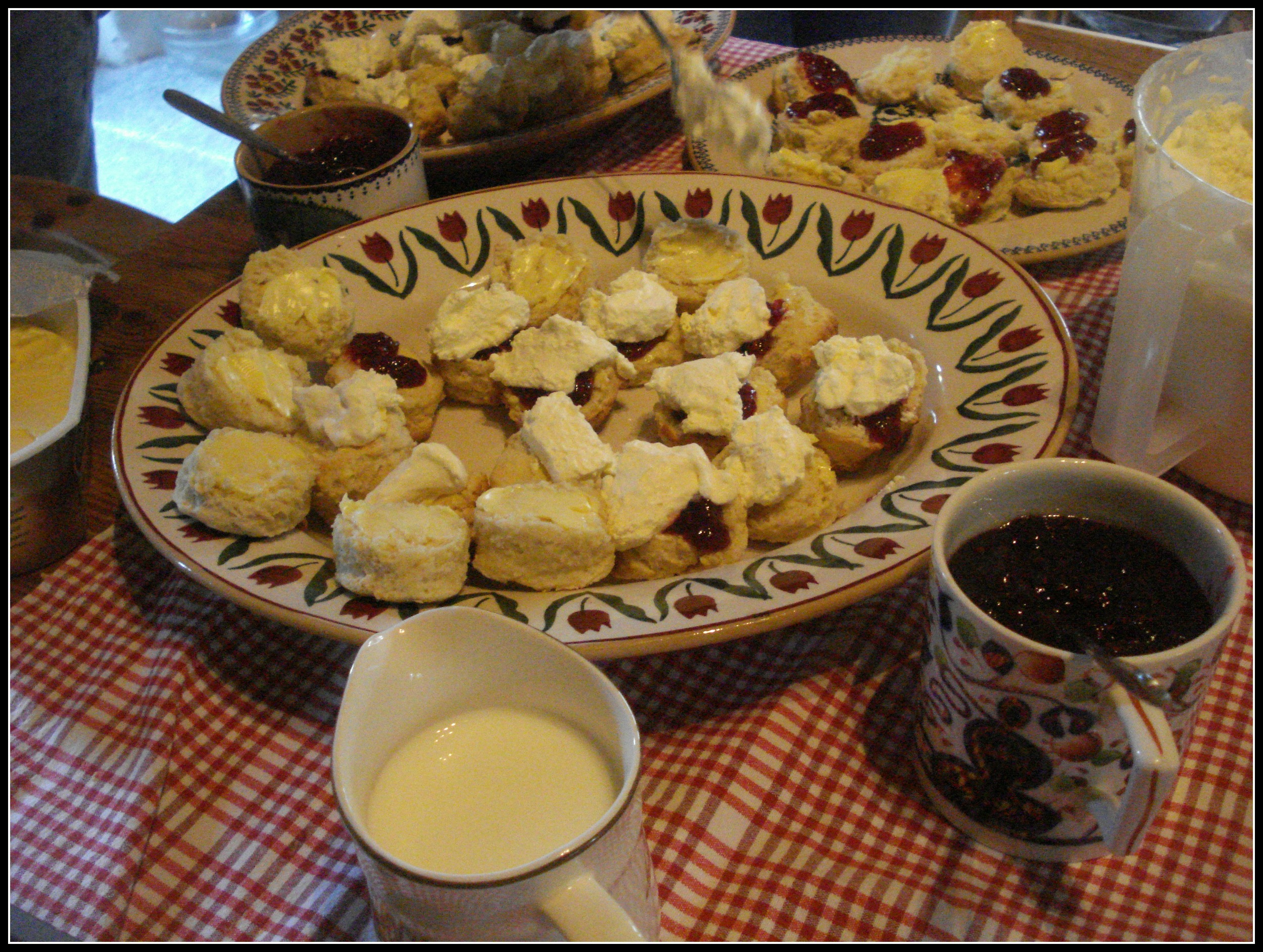 Scones, lovingly made by Claire.