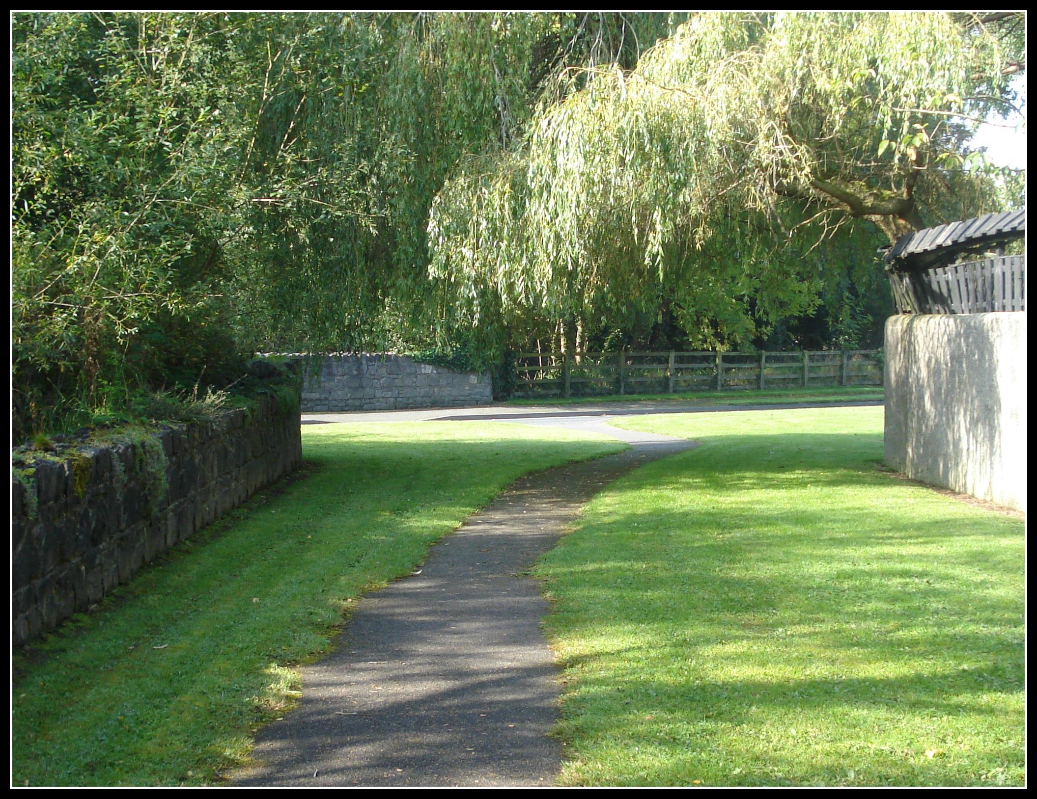 Path to St. Brigid's Well.