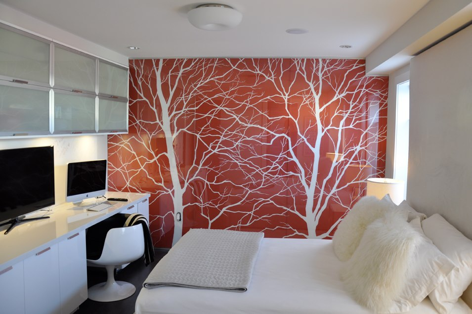 Modern Tree Silhouette Mural.